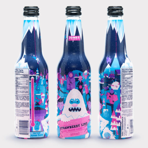 Picture taken from thedieline.com. Photo of Jones Soda Winter Bottles (2017).
